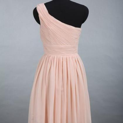 One Shoulder Bridesmaid Dresses, Kn..