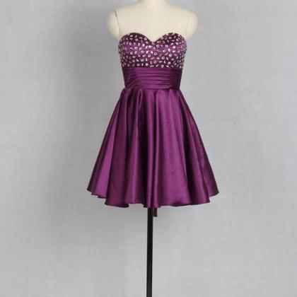 Short Party Dresses, Beaded Prom Dr..