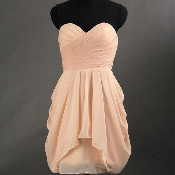 Short Bridesmaid Dresses, Knee Length Prom Dresses, Ruched Party Dresses , Backless Homecoming Dresses